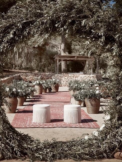 Hochzeitsmotto Boho Delia Altar