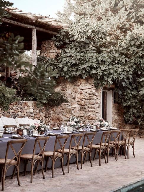 Hochzeitsmotto Boho Delia Tisch Tischdeko