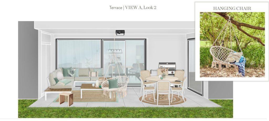 Moderne Terrasse Entwurf 2