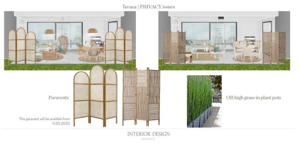 Moderne Terrasse Privatsphäre Tipps