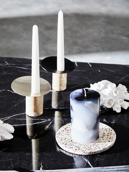 Terrazzo Untersetzer Kerze Marmor