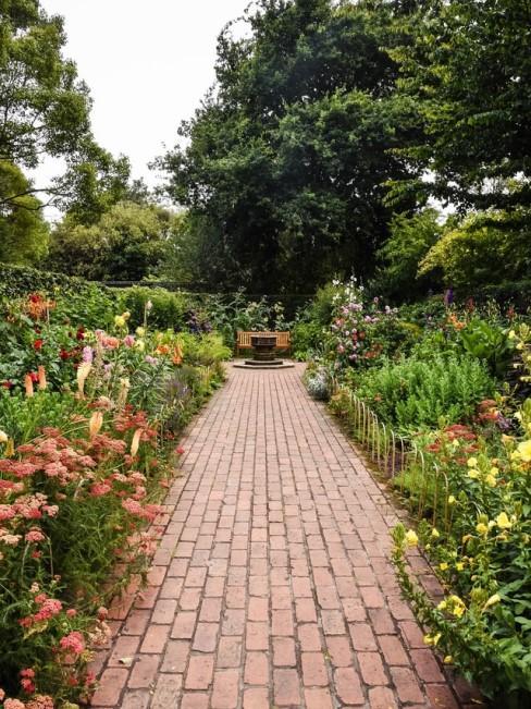 Gepflegter unkrautfreier Garten