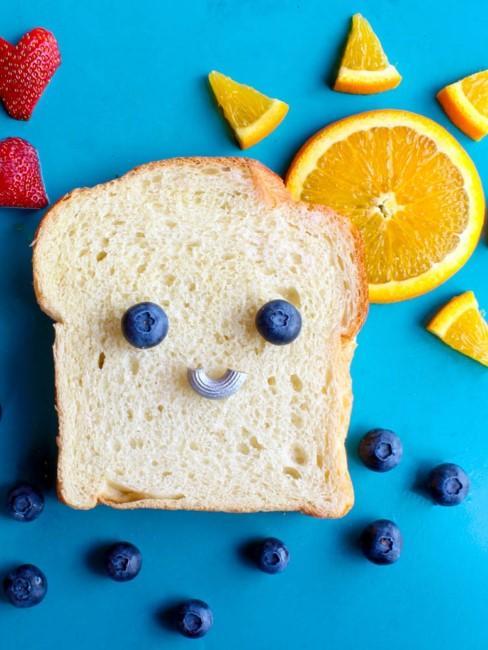 Toast mit Gesicht