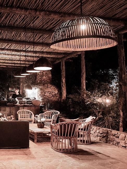 Terrassenbeleuchtung Deckenlampen Rattan Bambus