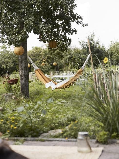 Garten mit einer Hängematte