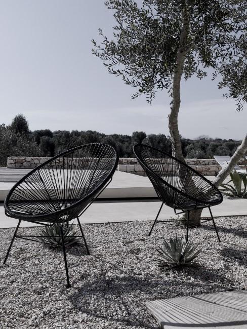 Moderne Gartenstühle in Schwarz