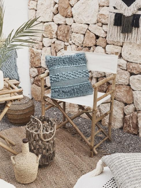 Garten Sitzecke im Boho Style