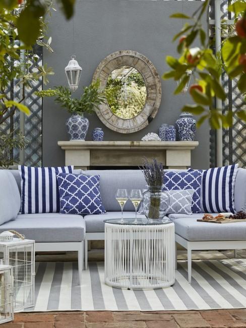 Grau als Trendfarbe auch bei Gartenmöbeln 2021