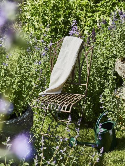 Stuhl im Kleingarten