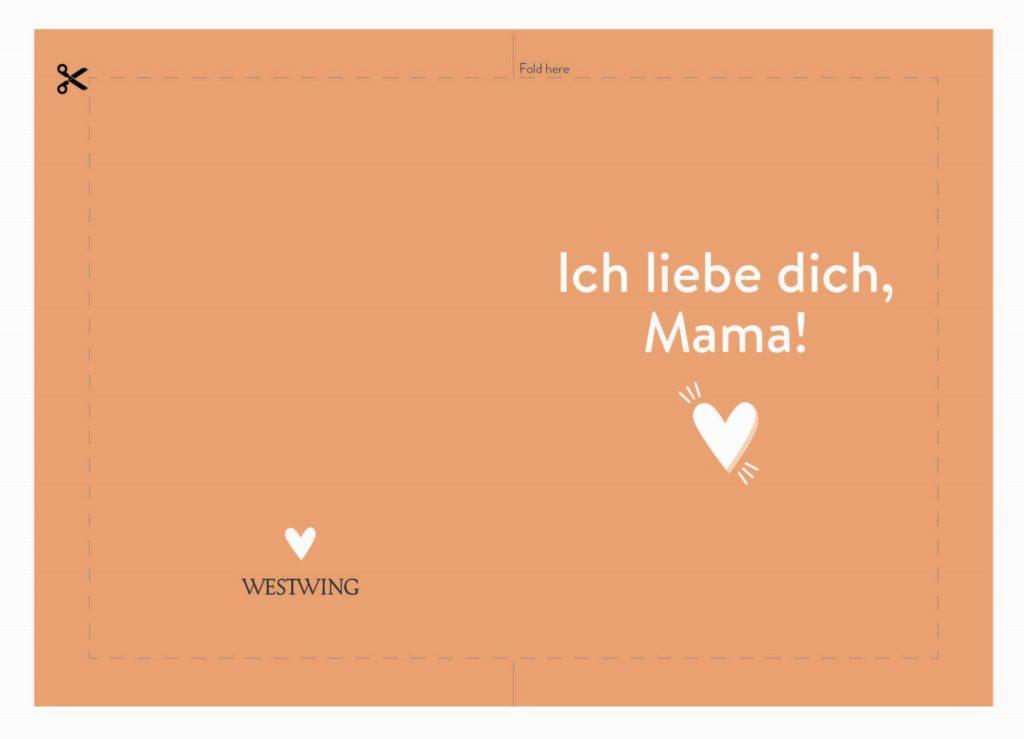 Schöne Muttertagskarte mit Spruch