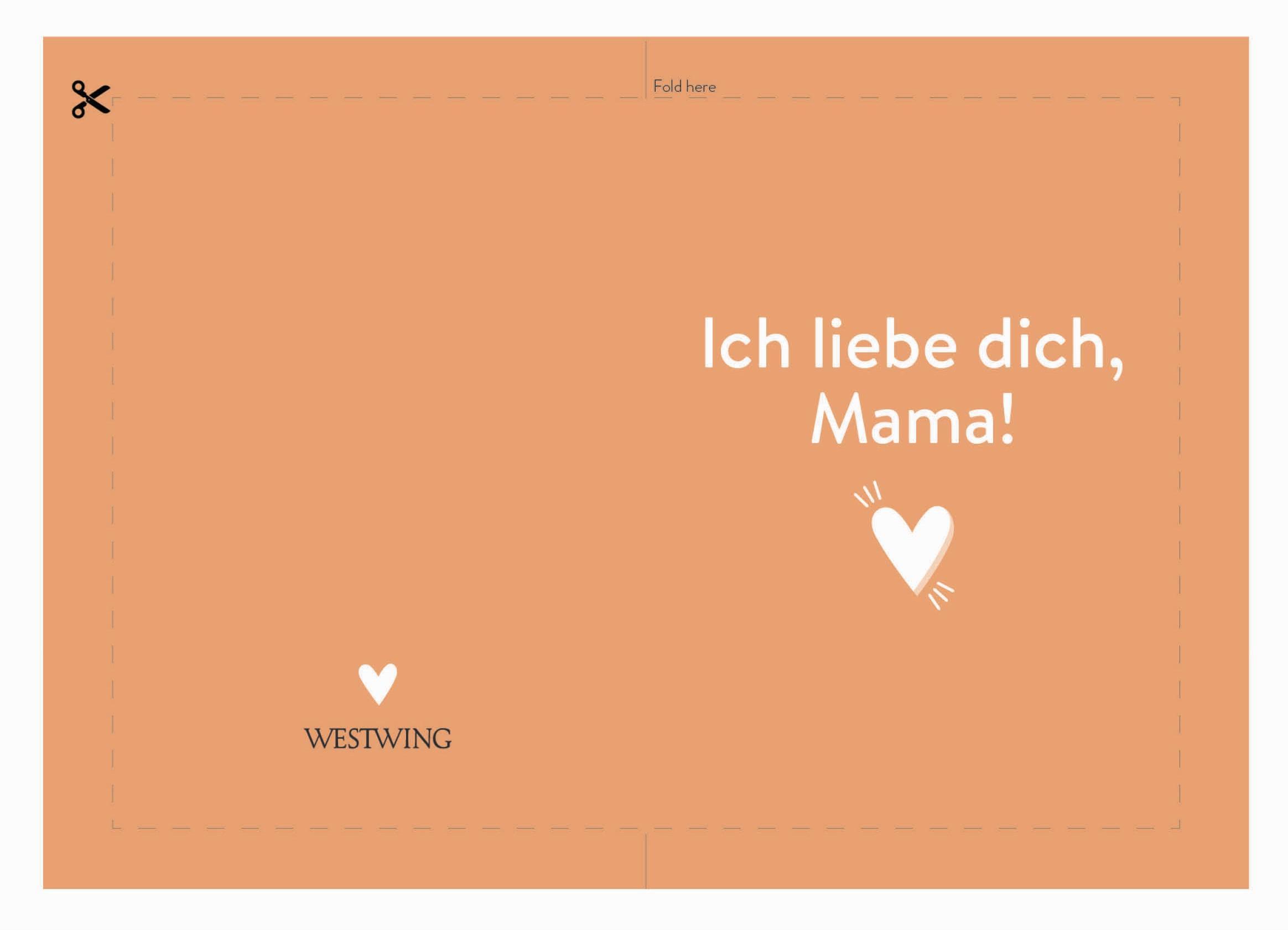 Muttertagskarte mit Spruch