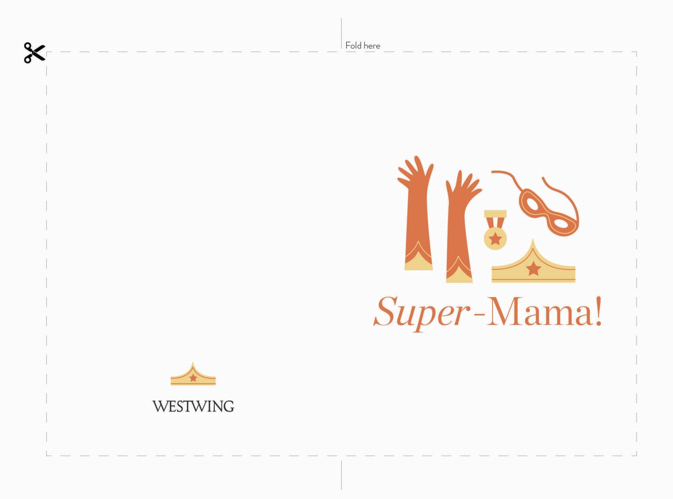Karte für den Muttertag downloaden