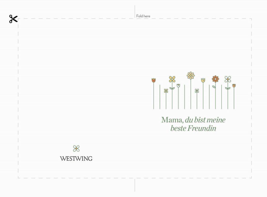 Muttertagskarte zum Ausdrucken