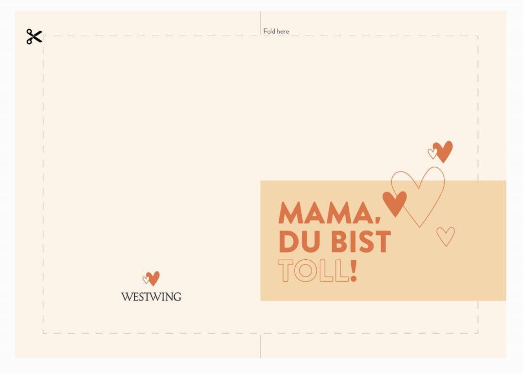Grußkarte für den Muttertag