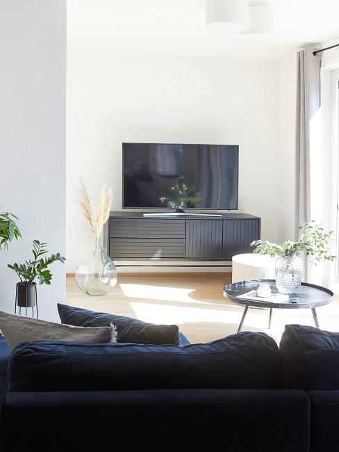 Homeoffice Wohnzimmer Sofaecke Lowboard TV