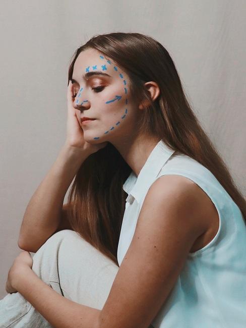 Face Yoga Problemzonen Gesicht Frau