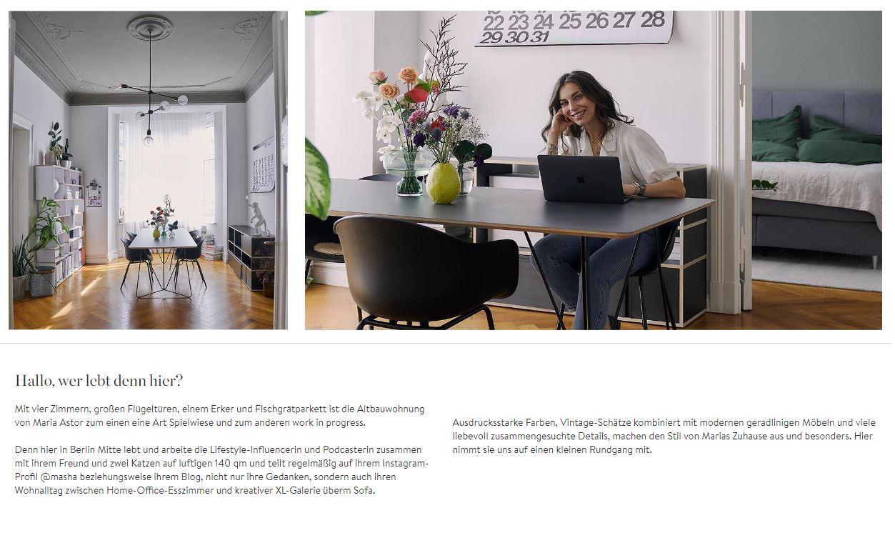Homestory Masha Vorstellung Arbeitszimmer Wohnung Daten