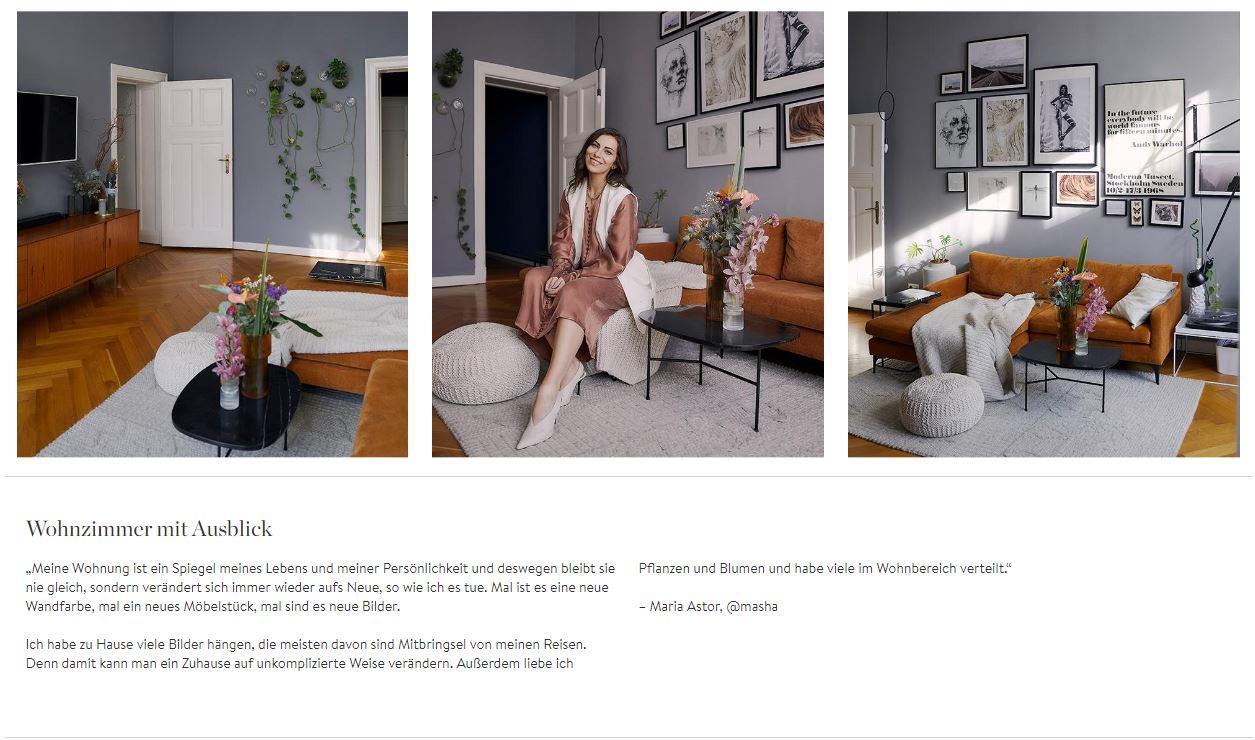 Homestory Masha Wohnzimmer