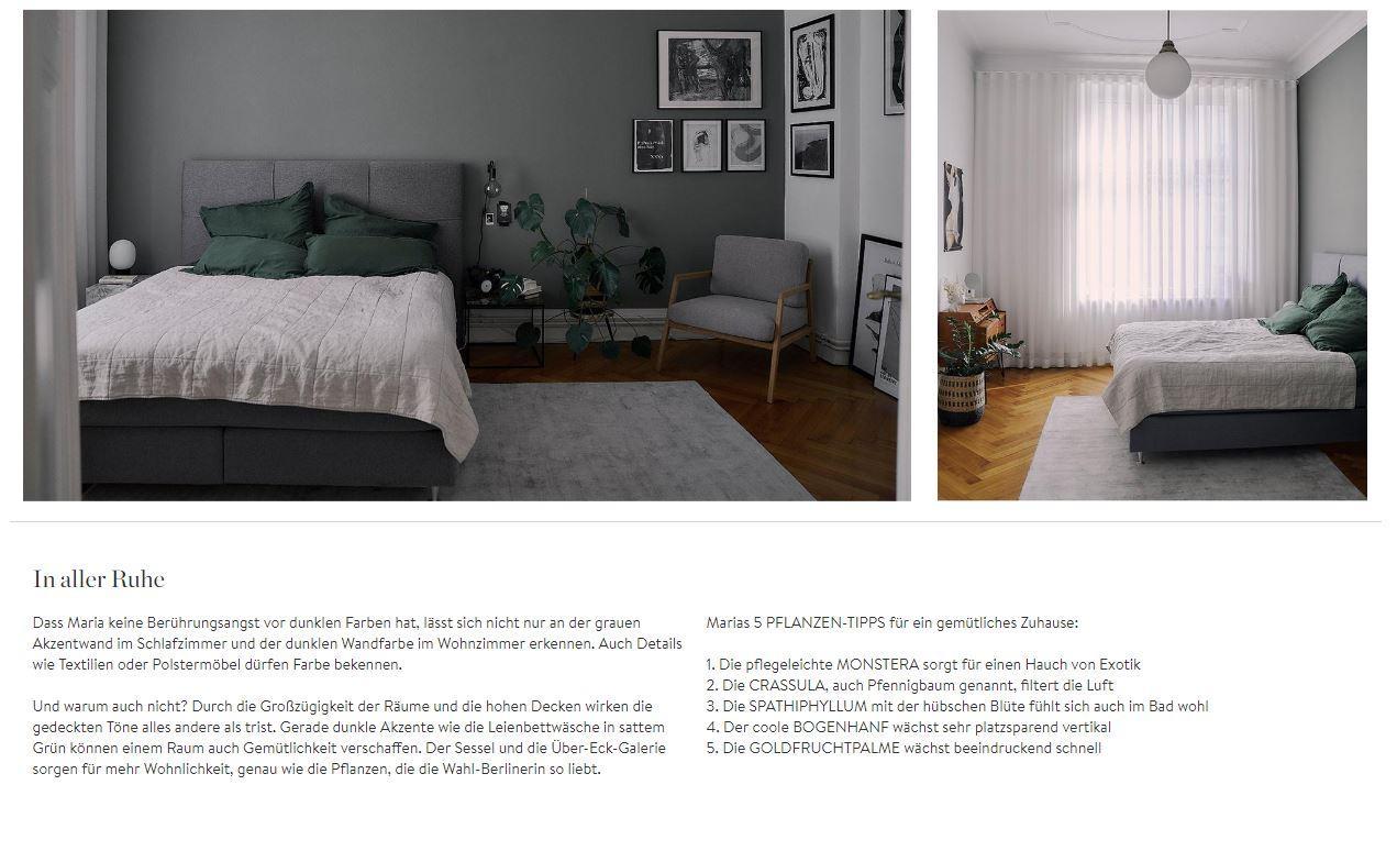Masha Homestory Schlafzimmer Pflanzen