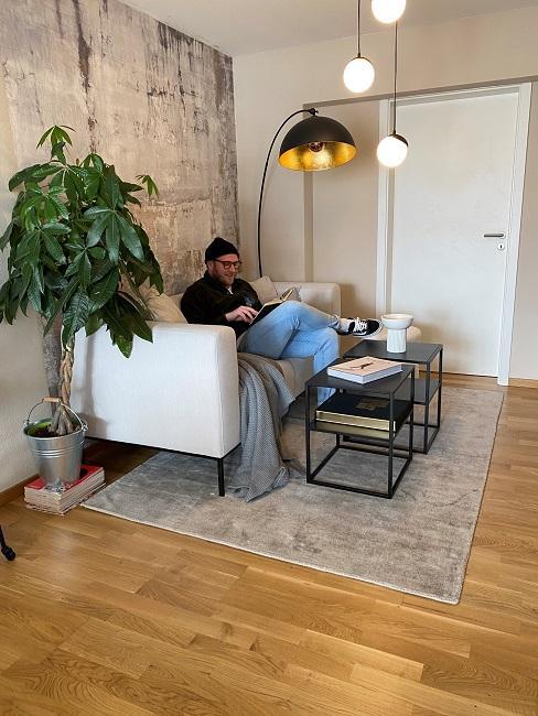 Männer Wohnzimmer Vorher Sofaecke Mann