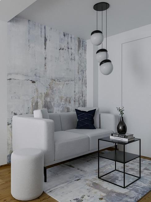 Männer Wohnzimmer Nachher Entwurf Sofa Teppich