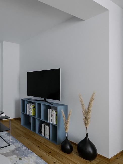 Maenner Wohnzimmer Nachher Entwurf Sofaecke Regal TV