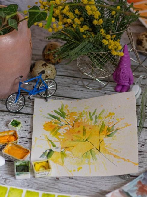 Bild mit gelben Blumen