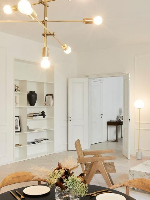Moderne Wohnungseinrichtung Wohnzimmer Lampe Eingang