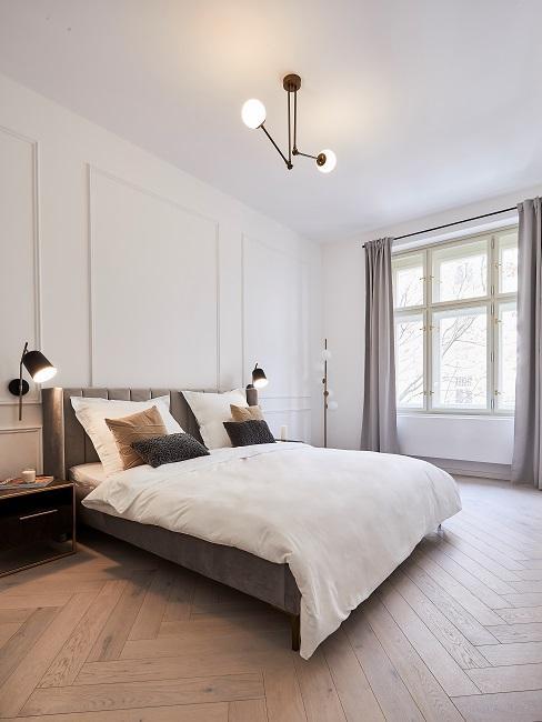 Moderne Wohnungseinrichtung Schlafzimmer Bett Beleuchtung