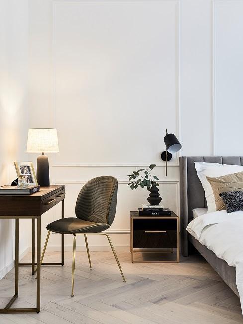 Moderne Wohnungseinrichtung Schlafzimmer Konsole Bett
