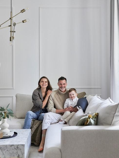 Moderne Wohnungseinrichtung Familie Wohnzimmer Sofa
