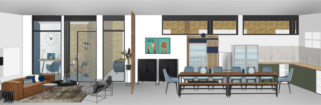 Bürogebäude Büroräume einrichten Gemeinschaftsraum