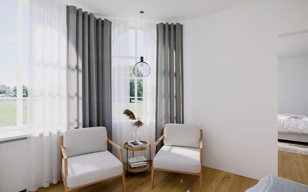 Hoteleinrichtung Suite Sessel Stühle Fenster