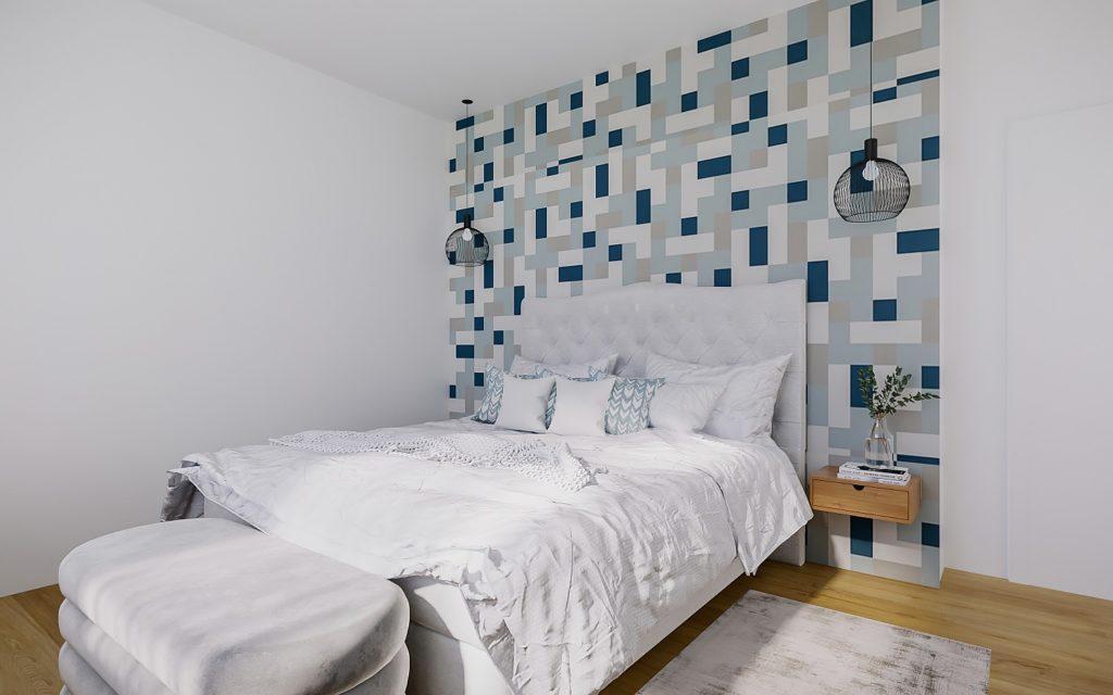 Hoteleinrichtung Suite Bett Tapete