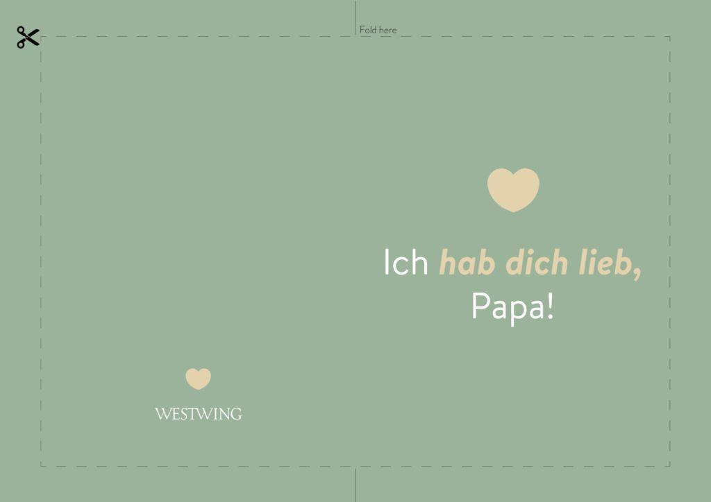 Vatertagskarten zum Drucken als Vatertagsgeschenke