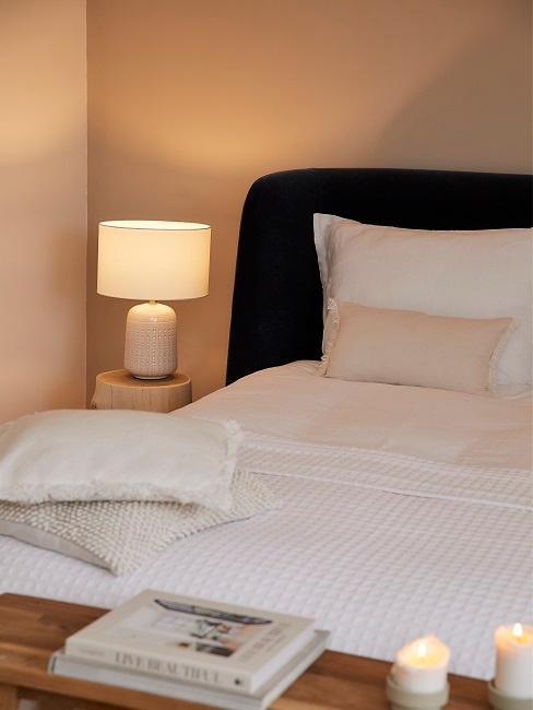 Leinen Bettwäsche in Weiß