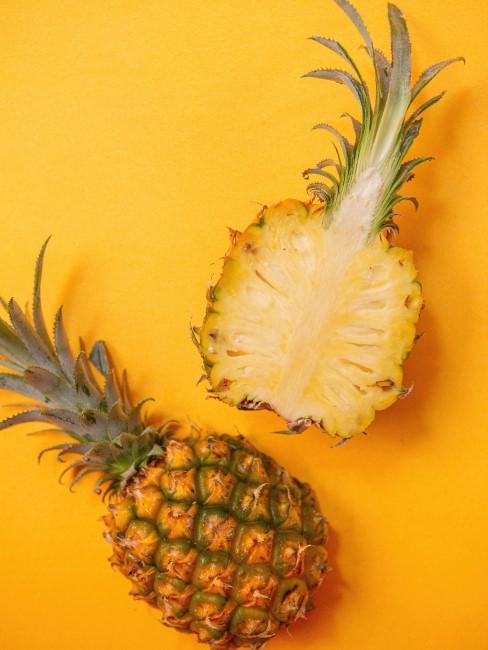 reife Ananas aufgeschnitten