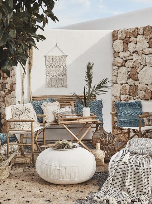 Garten dekorieren mit Naturmaterialien