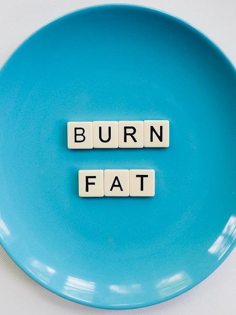 Low Fat Diät Teller Burn Fat