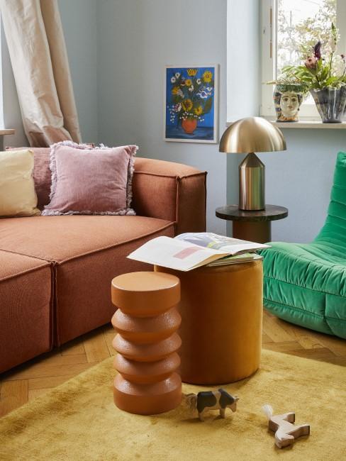 Möbel und Accessoires in der Trendfarbe Terracotta