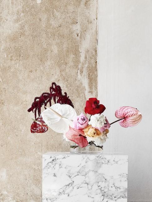 gemischter Blumenstrauß plus Blumenspruch