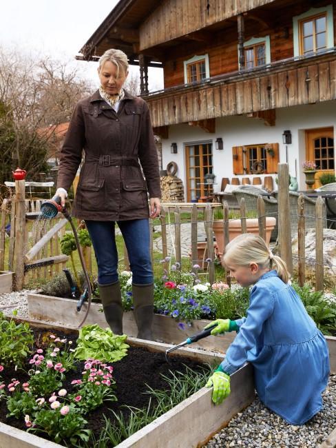 Gemüsebeet im Garten anbauen und pflegen