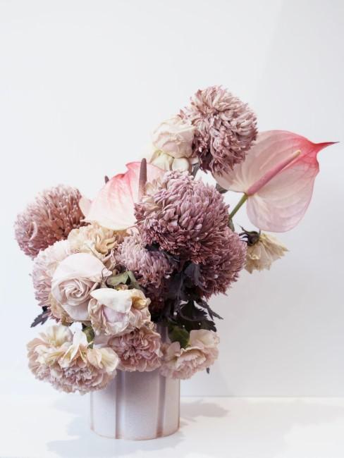 Blassrosa Blumenstrauß