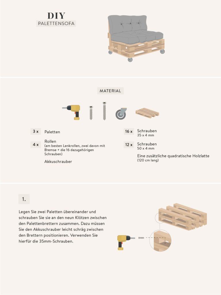 Palettensofa selber bauen Grafik mit Anleitung 1