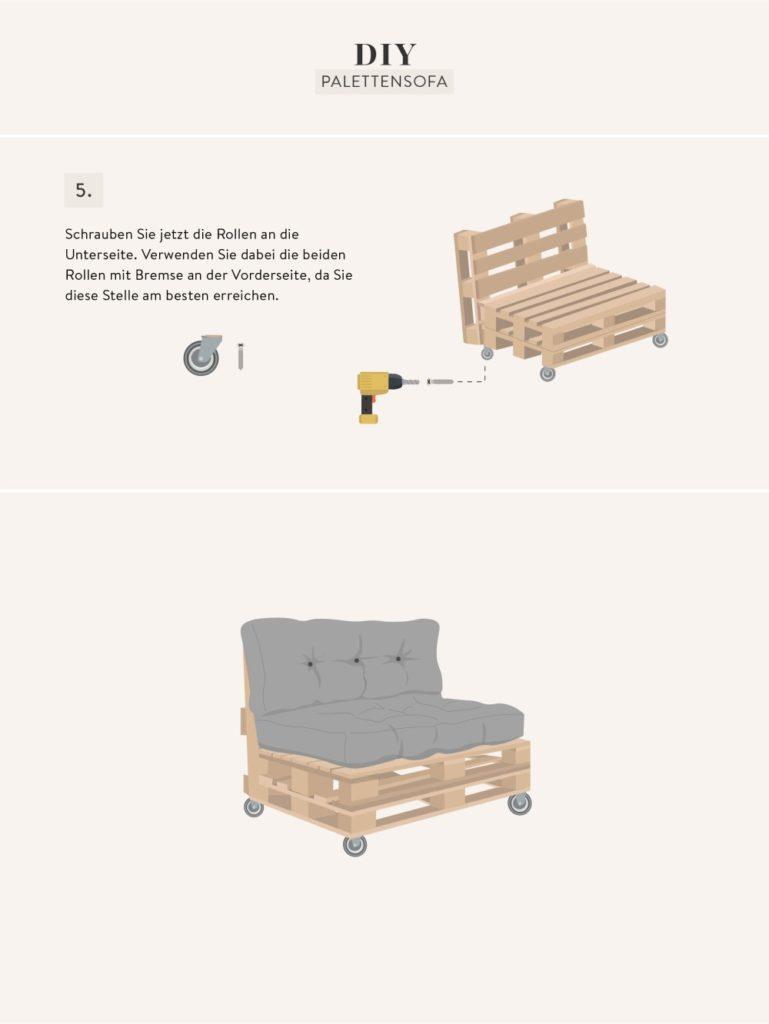 Palettensofa selber bauen Grafik mit Anleitung 3