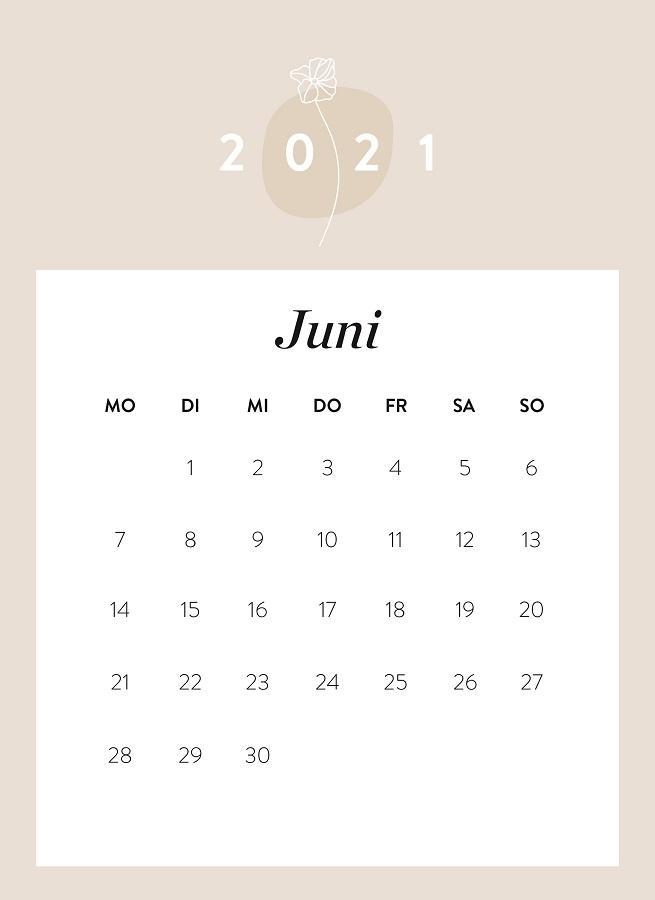 Monatskalender Juni 2021