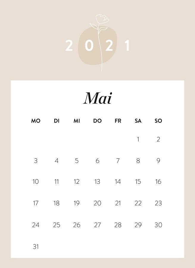 Monatskalender Mai 2021