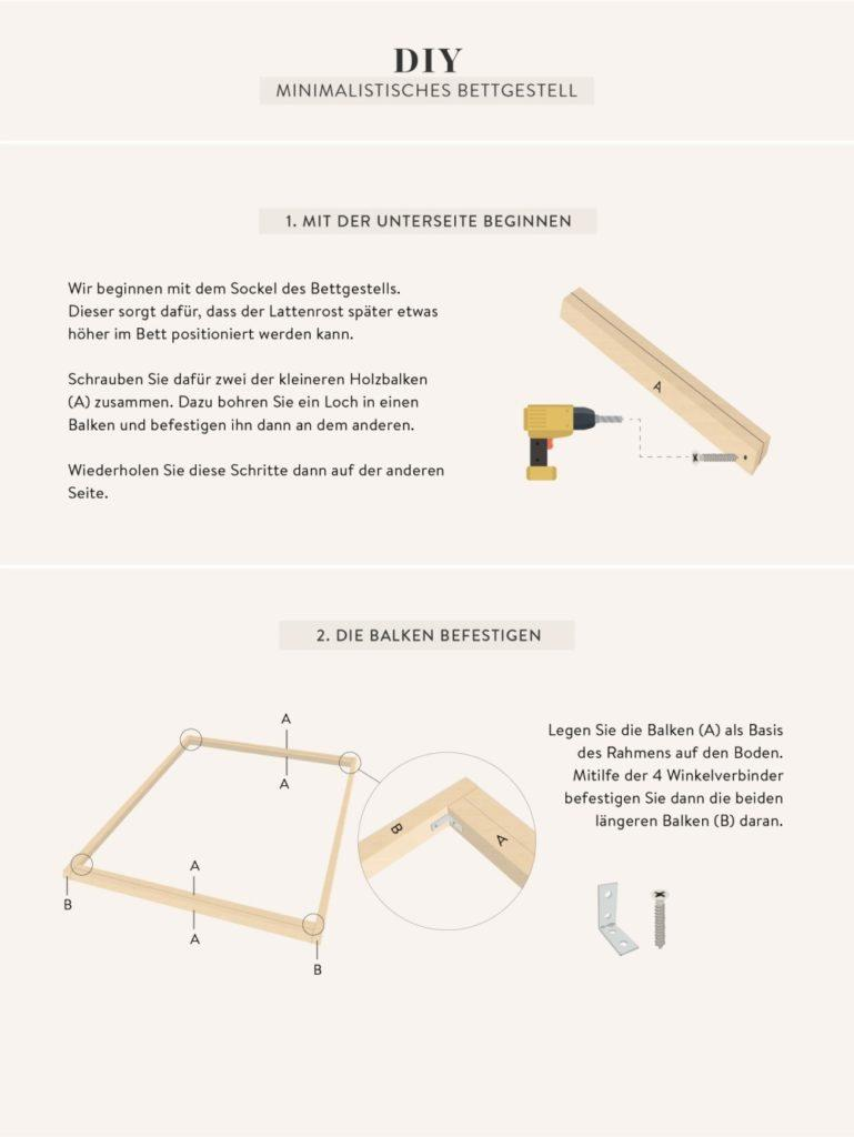 Anleitung selber stabiles bett bauen Bett selber