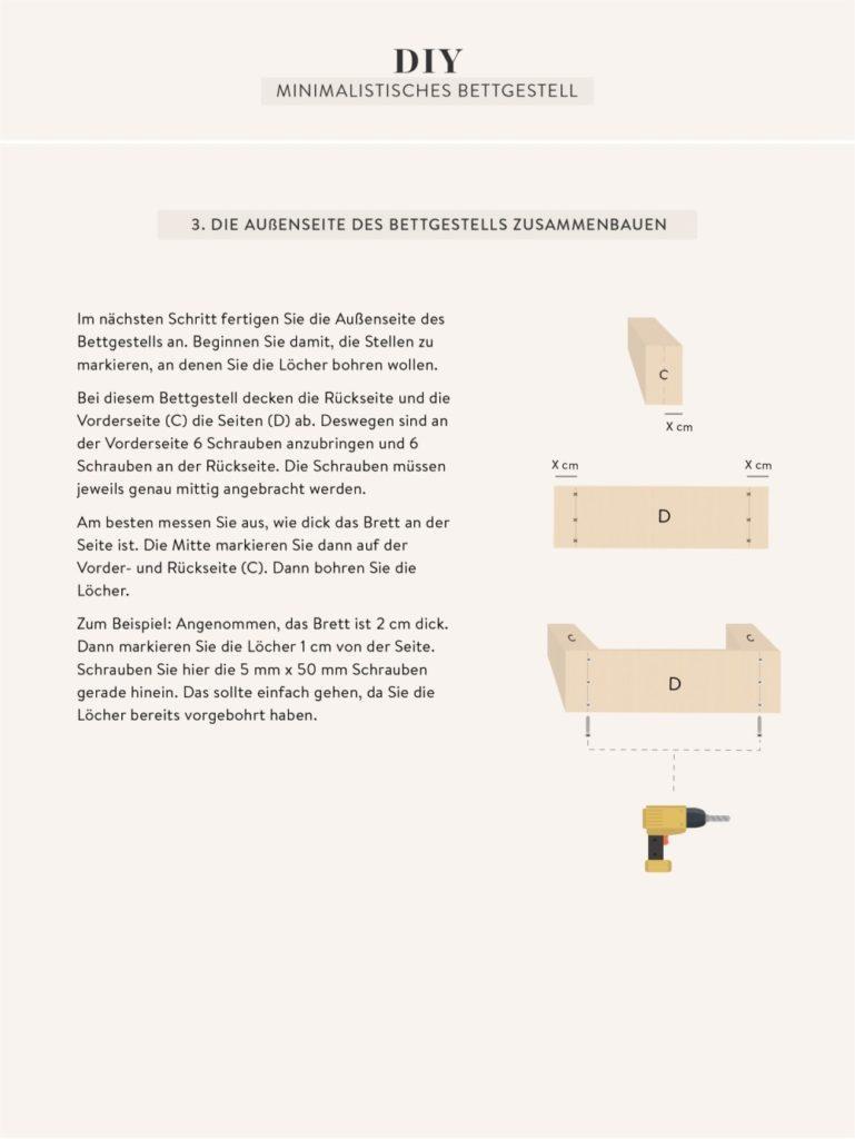 Anleitung zum Bett selber bauen