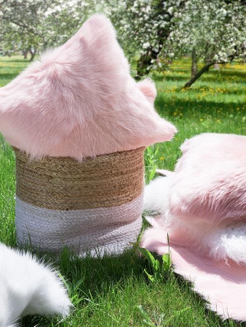 Gartenparty Felle Textilien Kaelte